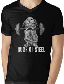 Buns of Steel (Dark) Mens V-Neck T-Shirt