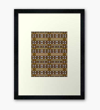 Brown Lines Framed Print