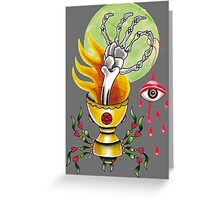 Goblet Of Fire  / black Greeting Card