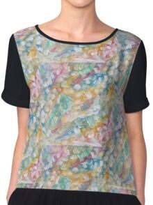 Acrylic Painting, Dreaming, Colorful Abstract Design  Chiffon Top