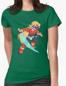 The Red Mega Man Womens Fitted T-Shirt