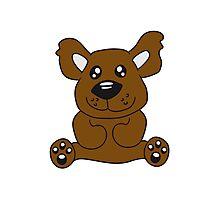 Sitting teddy bear comic cartoon sweet cute Photographic Print