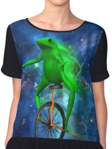 dat boi space shirt (high resolution) Chiffon Top