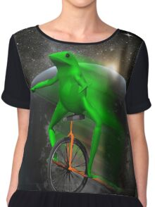 dat boi moon shirt (high resolution) Chiffon Top
