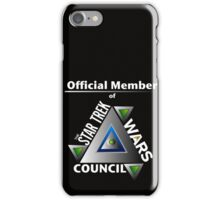 Official Member of the Star Trek Wars Council Transparent Background iPhone Case/Skin