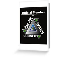 Official Member of the Star Trek Wars Council Transparent Background Greeting Card