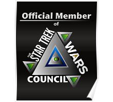Official Member of the Star Trek Wars Council Transparent Background Poster