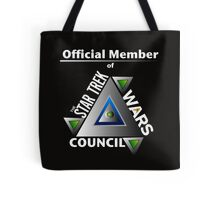 Official Member of the Star Trek Wars Council Transparent Background Tote Bag