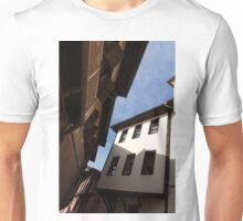 Sun and Shade - Elegant Revival Houses in Old Town Plovdiv, Bulgaria - Vertical Unisex T-Shirt