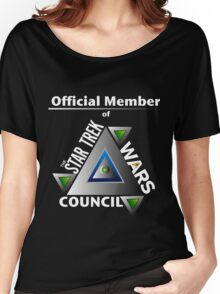 Official Member of the Star Trek Wars Council Transparent Background Women's Relaxed Fit T-Shirt