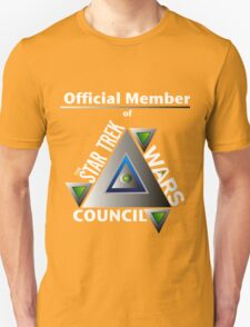 Official Member of the Star Trek Wars Council Transparent Background Unisex T-Shirt