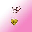 G Golden Heart Locket by Chere Lei