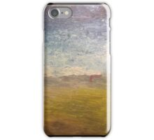 Empty beach with thongs iPhone Case/Skin