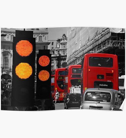 London Traffic Reds Poster