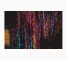 Colorful Christmas Streaks - Abstract Christmas Lights Series Baby Tee