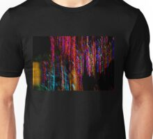 Colorful Christmas Streaks - Abstract Christmas Lights Series Unisex T-Shirt