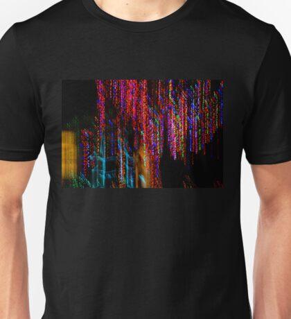 Colorful Christmas Streaks - Abstract Christmas Lights Series Unisex T-Shirt