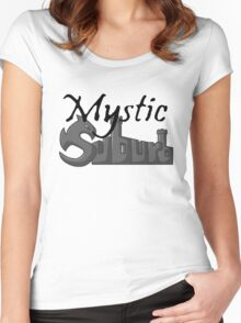 Mystic Suburb Logo Women's Fitted Scoop T-Shirt