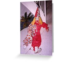 Found Photo Halloween Card - Clown Greeting Card