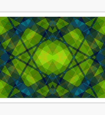 Kaleidoscope Green Sticker
