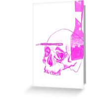 Neon Pink Brush With Death Greeting Card