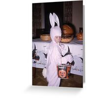 Found Photo Halloween Card - Bunny Greeting Card