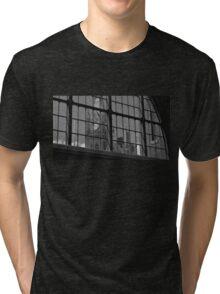 St Pancras Clock Tower Tri-blend T-Shirt