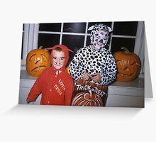 Found Photo Halloween Card - Devil & Cow Greeting Card