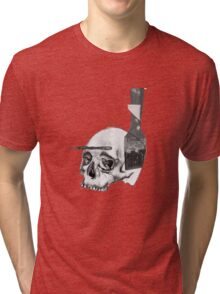 Greyscale Brush With Death Tri-blend T-Shirt