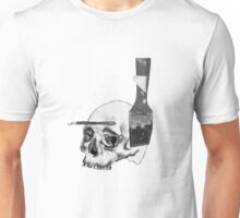 Greyscale Brush With Death Unisex T-Shirt