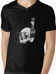 Greyscale Brush With Death Mens V-Neck T-Shirt