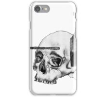 Greyscale Brush With Death iPhone Case/Skin