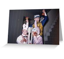 Found Photo Halloween Card - Trick-or-Treaters 5 Greeting Card