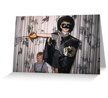 Found Photo Halloween Card - Zorro Greeting Card
