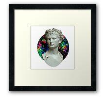 Trippy Greek Bust Framed Print