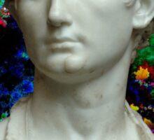 Trippy Greek Bust Sticker