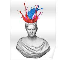 Greek Bust Exploding Head Poster