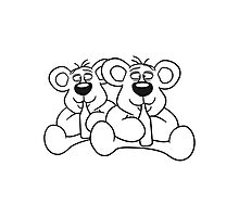 sitting 2 team crew buddies drunk thirsty cola drink alcohol party bottle beer drinking polar teddy bear funny Photographic Print