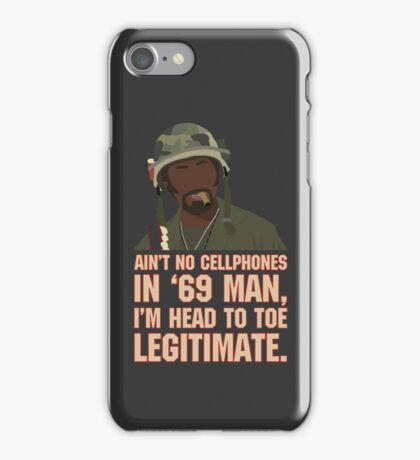 Aint no cellphones in 69 man... iPhone Case/Skin
