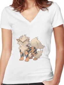 Pokemon - Arcanin Women's Fitted V-Neck T-Shirt