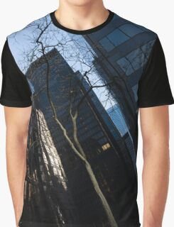 A Study in Contrasts - Downtown Toronto Miniature Park - Left Graphic T-Shirt