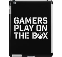 Gamers Play On The Box iPad Case/Skin