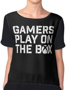 Gamers Play On The Box Chiffon Top