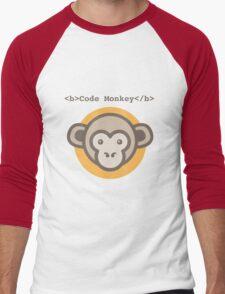 Code Monkey Men's Baseball ¾ T-Shirt