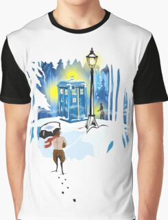 The Lion, The Doctor, and the Tardis Graphic T-Shirt
