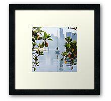 Yacht, Sunrise, East Balmain, Sydney, Australia Framed Print