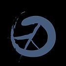 Peace Symbol Calligraphy by Steve Campbell