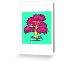 hot pink maple bonsai  Greeting Card