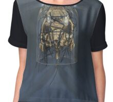 Bone Icon, Ghost Moth Women's Chiffon Top