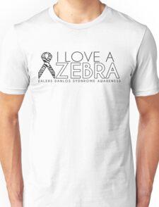 I Love A Zebra (Ehlers Danlos Syndrome Awareness) Unisex T-Shirt